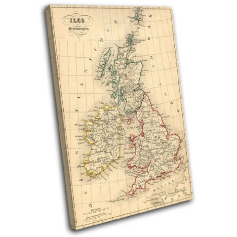 Old Vintage UK Atlas Maps Flags - 13-1777(00B)-SG32-PO